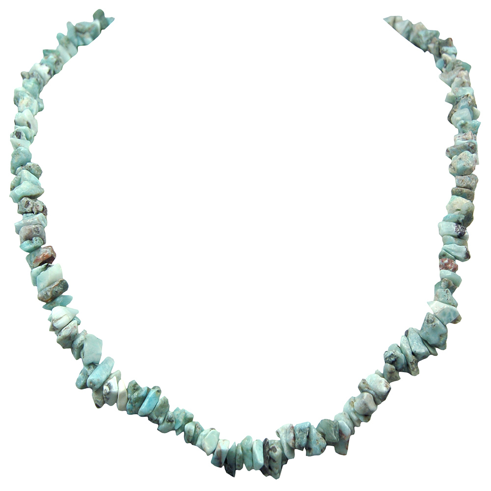 Necklaces - Larimar Tumbled Chips Necklace (India)