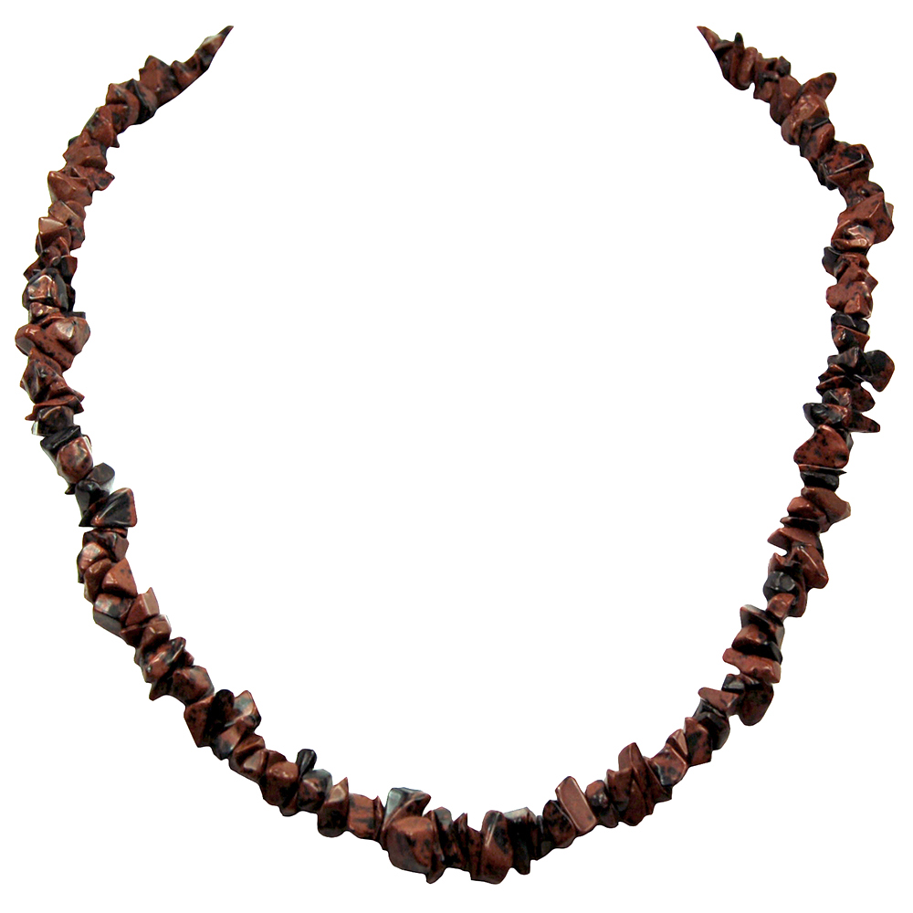 Necklaces - Mahogany Obsidian Tumbled Chips Necklace (India)