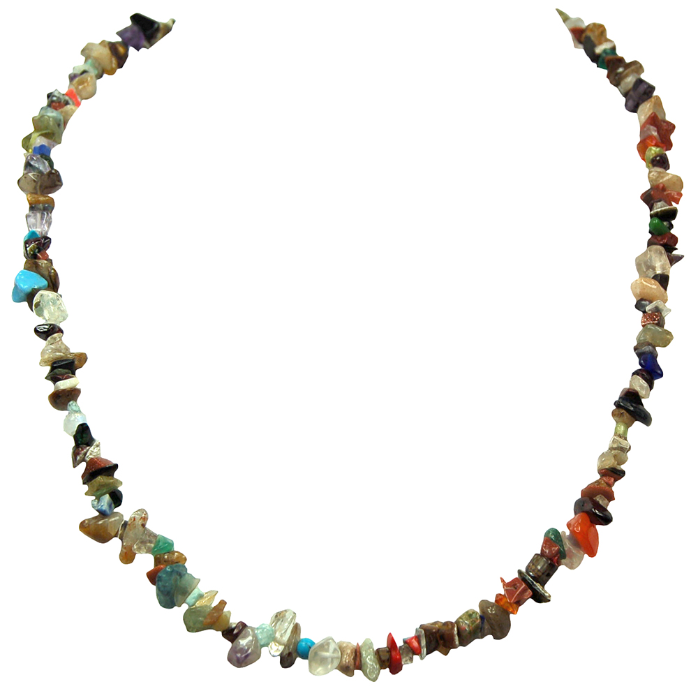 Necklaces - Multi-Colored Tumbled Chips Necklace (India)