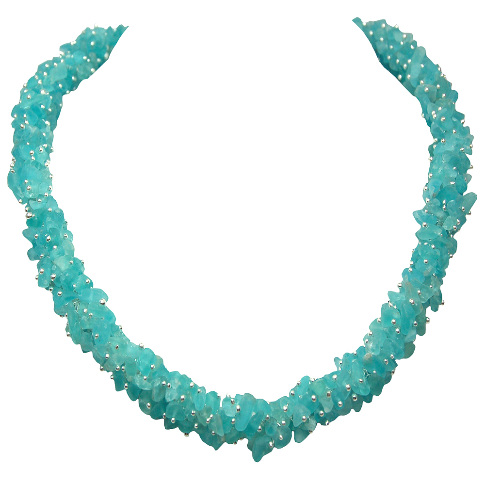 Necklaces - Neon Apatite Cluster Necklace (India)