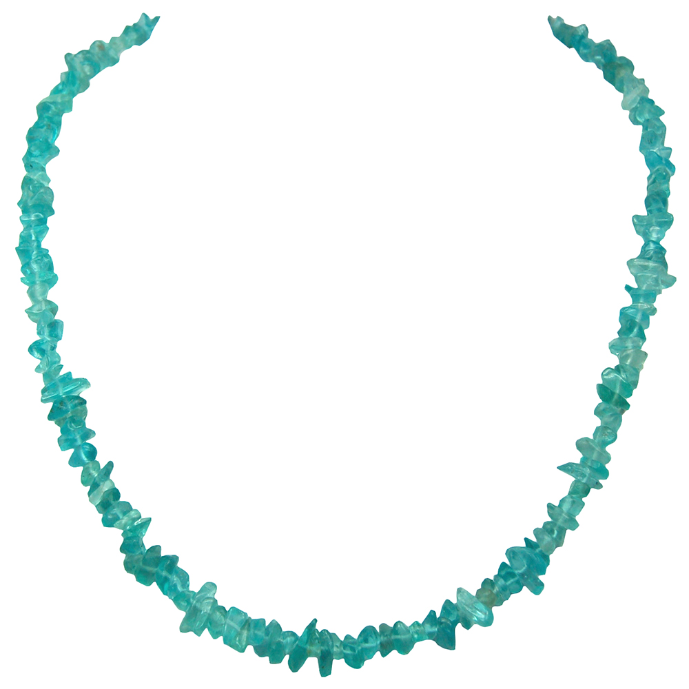 Necklaces - Neon Apatite Tumbled Chips Necklace (India)