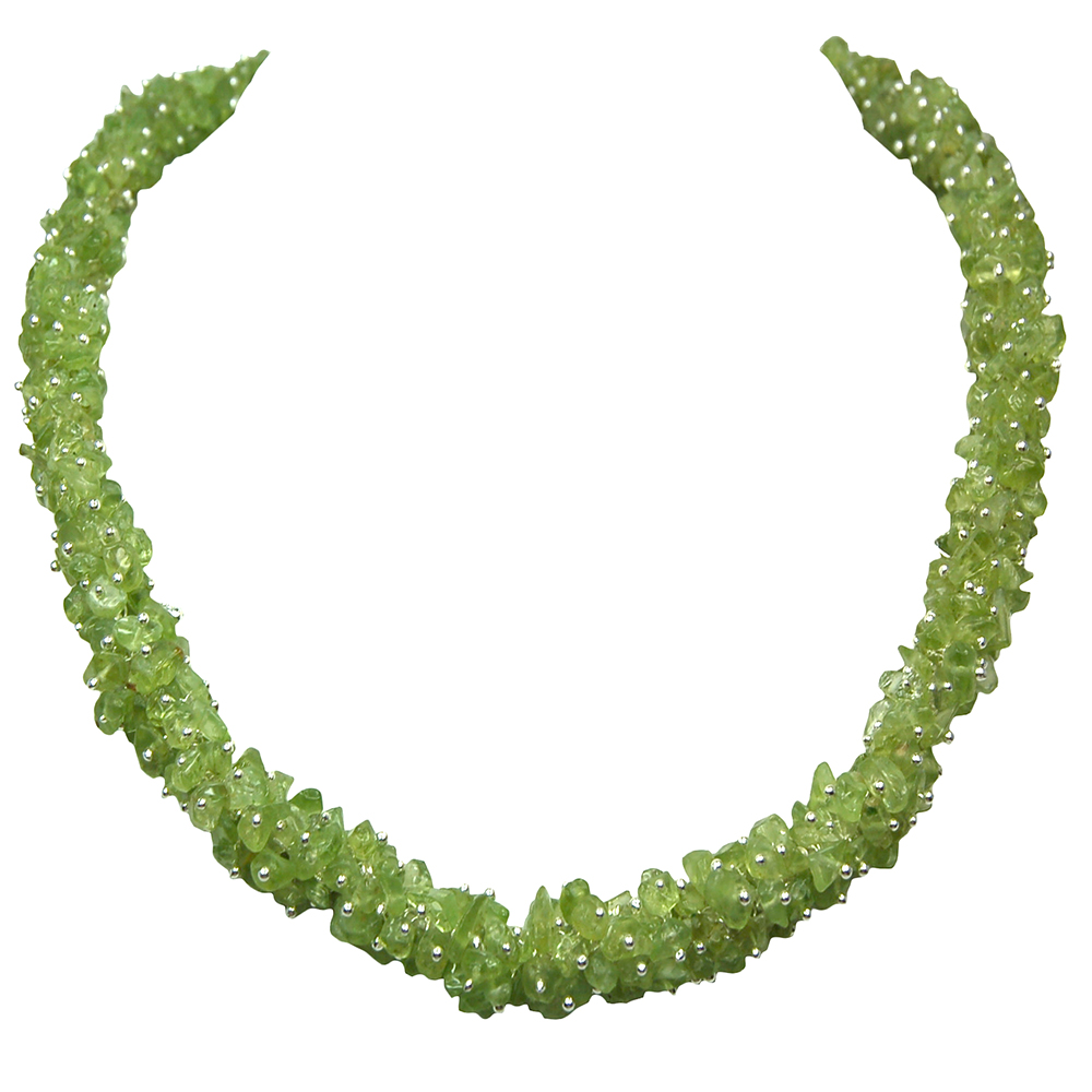 Necklaces - Peridot Cluster Necklace (India)