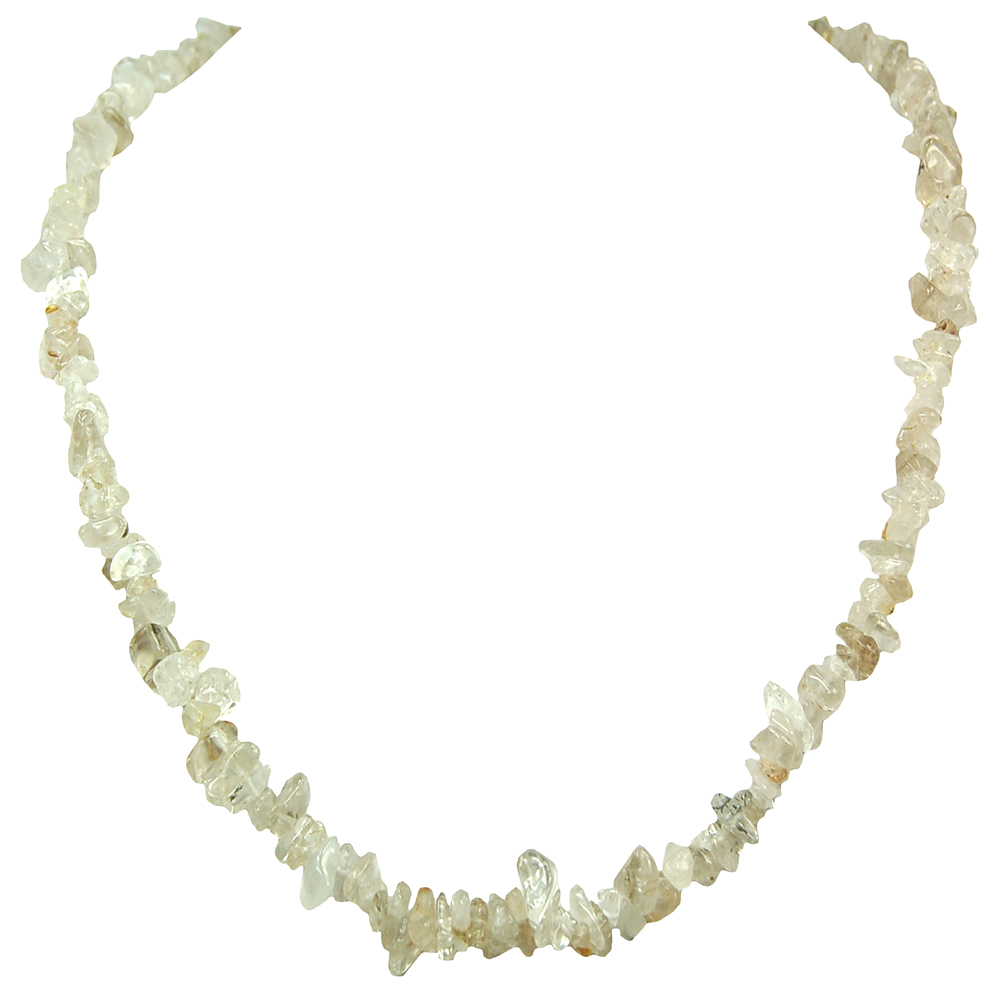 Necklaces - Rutilated Quartz Tumbled Chips (India)
