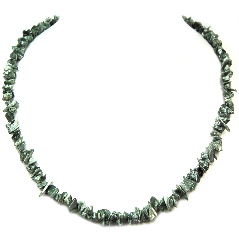 Necklaces - Seraphinite Tumbled Chips Necklace (India)