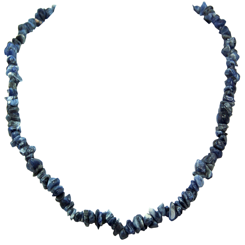 Necklaces - Sodalite Tumbled Chips Necklace (India)