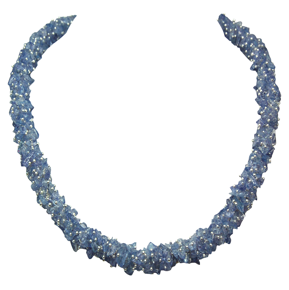 Necklaces - Tanzanite Cluster Necklace (India)