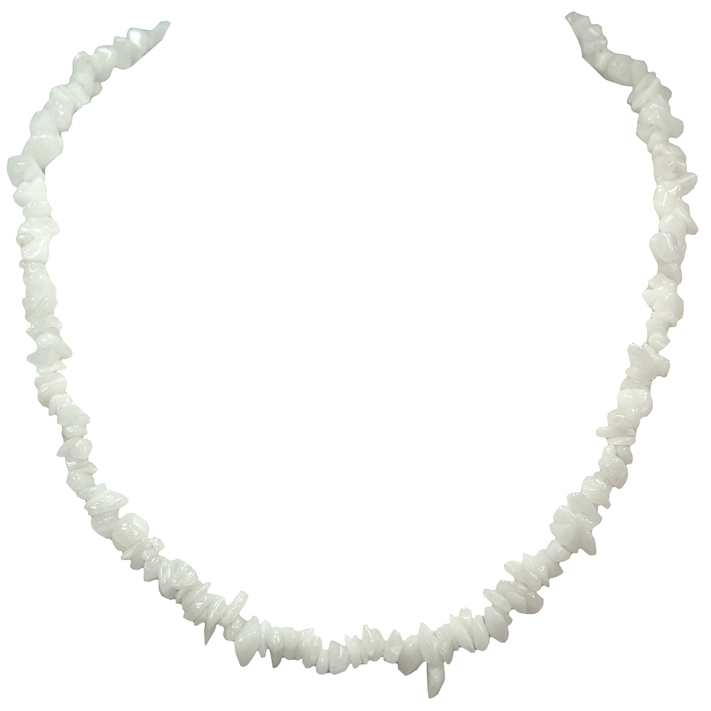 CLEARANCE - White Aventurine Tumbled Chips Necklace