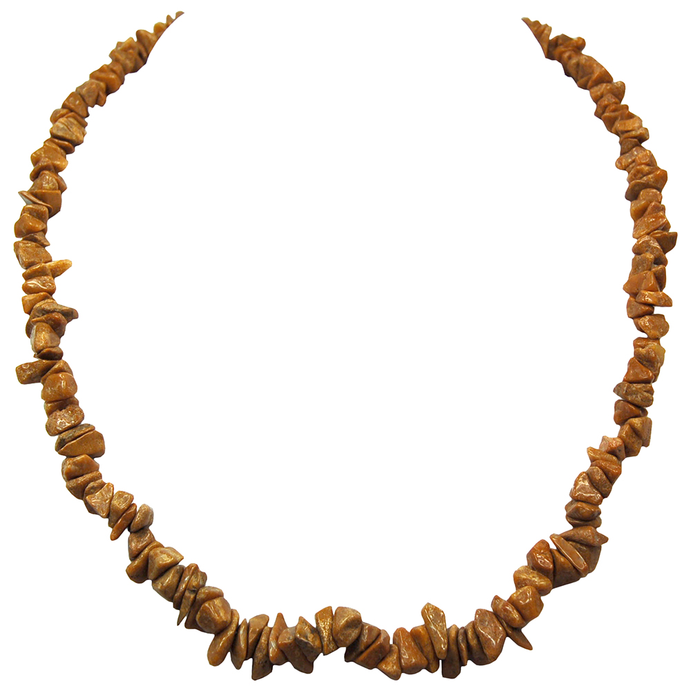 Discontinued - Yellow Jasper Tumbled Chips Necklace (India)