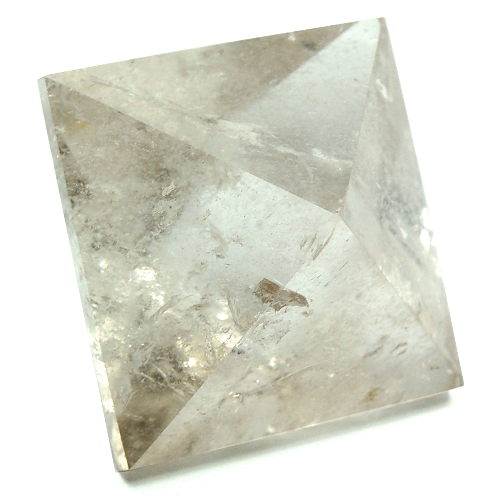 Discontinued - Octahedron Platonic Solid Lt. Smokey Quartz