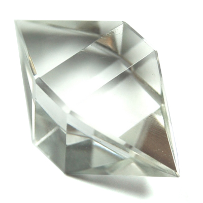 "Octahedron Platonic Solid - Clear Quartz ""Extra"" (China/Brazil)"