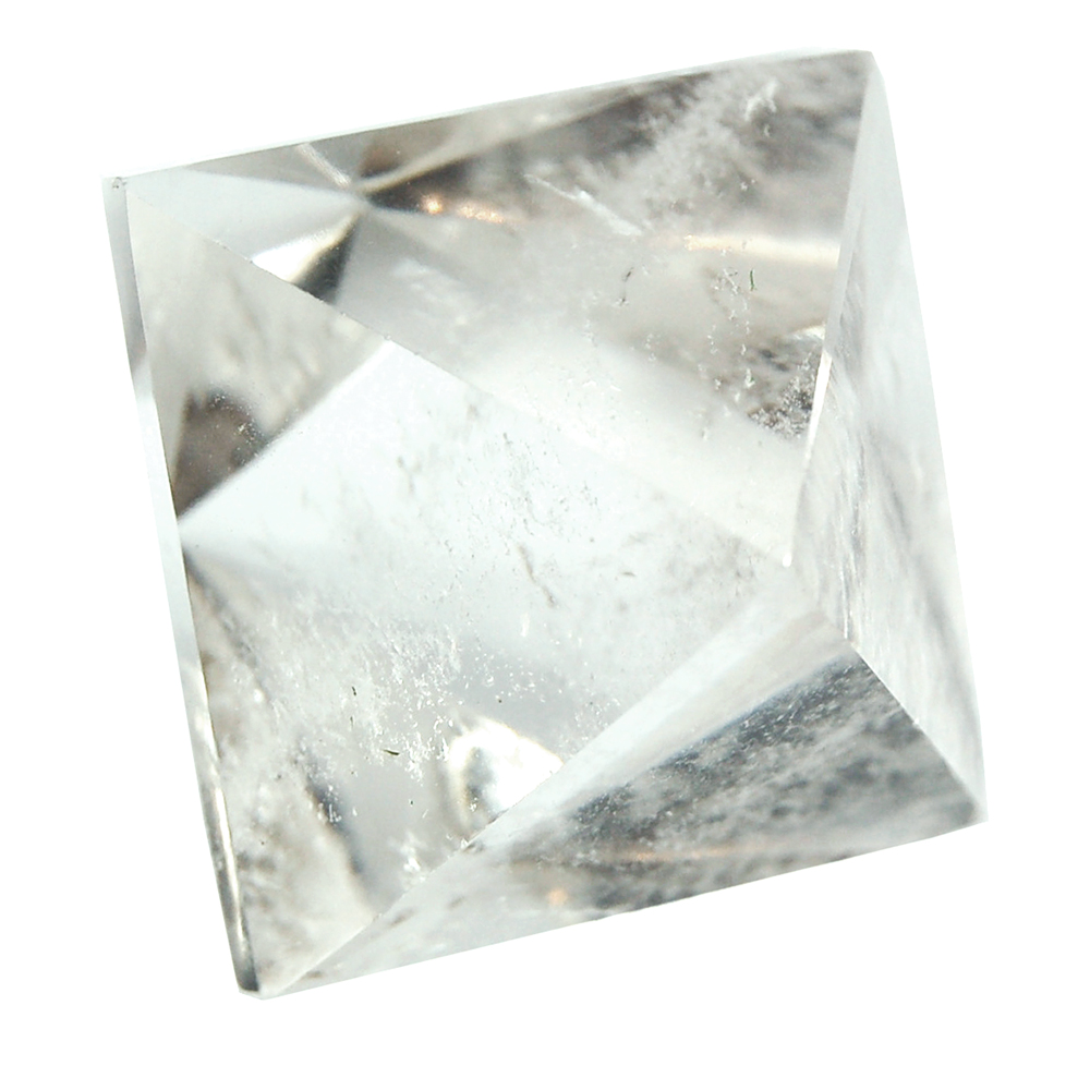 "Octahedron Platonic Solid Crystal - Clear Quartz ""Extra&quo"