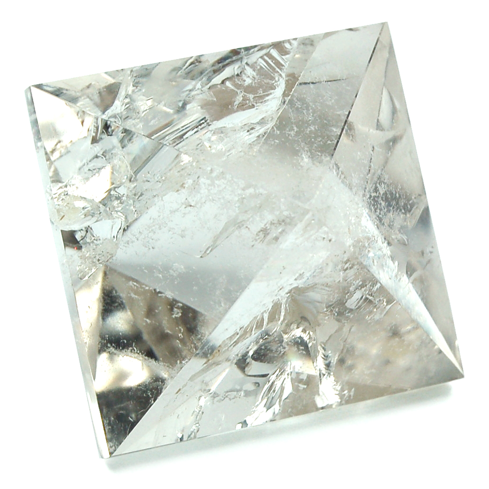"Octahedron Platonic Solid - Clear Quartz ""Extra\"" (China/Brazil)"