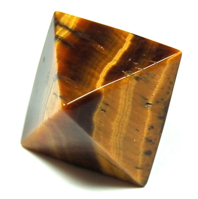 Octahedron Platonic Solid - Golden Tiger Eye (China)