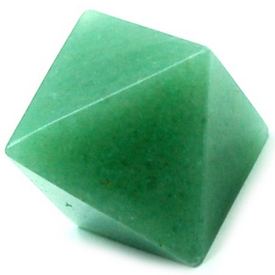 Octahedron Platonic Solid - Green Aventurine (China)