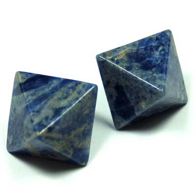 Octahedron Platonic Solid - Sodalite (China)