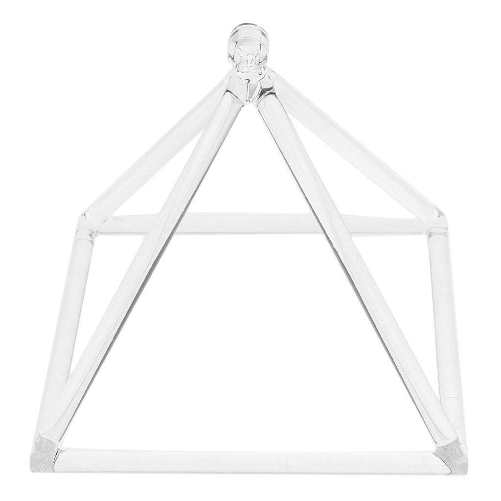 "Optical Clear Quartz Crystal ""Singing"" Pyramids"