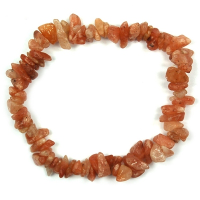 CLEARANCE - Orange Aventurine Single Strand Bracelet (India)