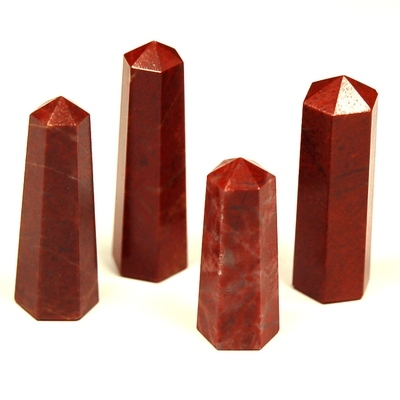 Pencil - Red Jasper 6-Sided Pencil (India)