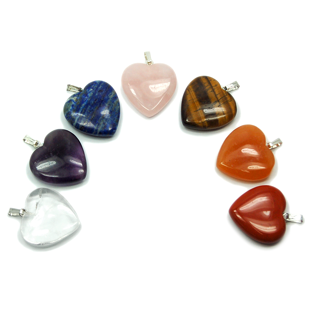Pendants - 7pc. Chakra Heart Pendant Set (China)