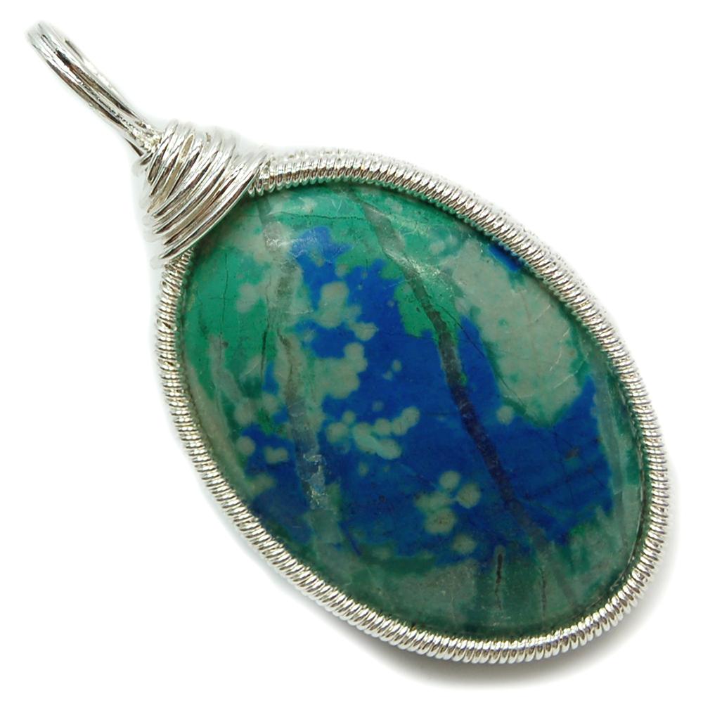 Pendants azurite cabochon wire wrap pendant india azurite pendants azurite cabochon wire wrap pendant india azurite healing crystals mozeypictures Images