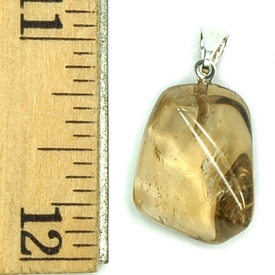 Pendants - Citrine (Natural) Tumbled Pendant (Brazil)