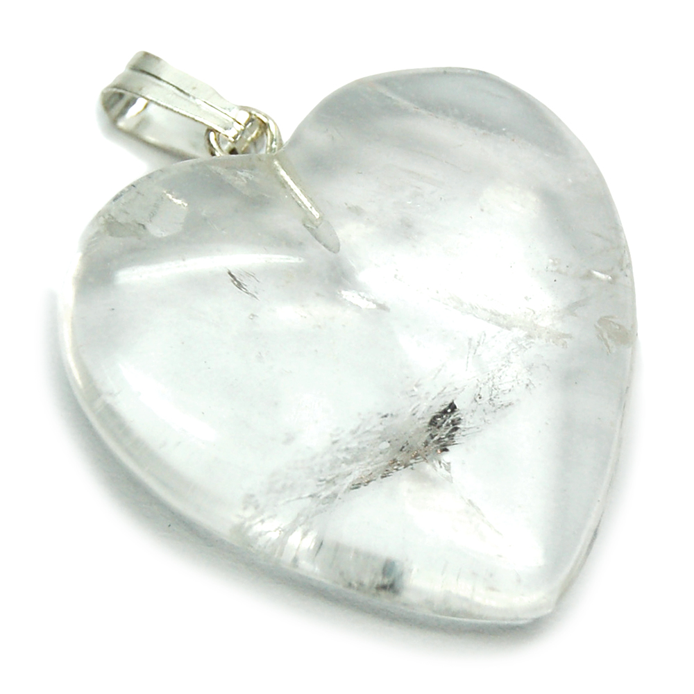 Pendants - Clear Quartz Heart Pendant (China)