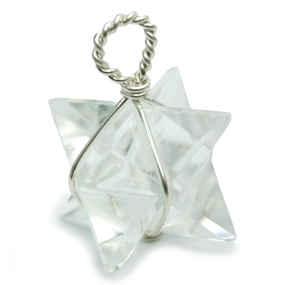 Pendants clear quartz merkaba pendant wrapped india clear pictures represent typical quality mozeypictures Gallery