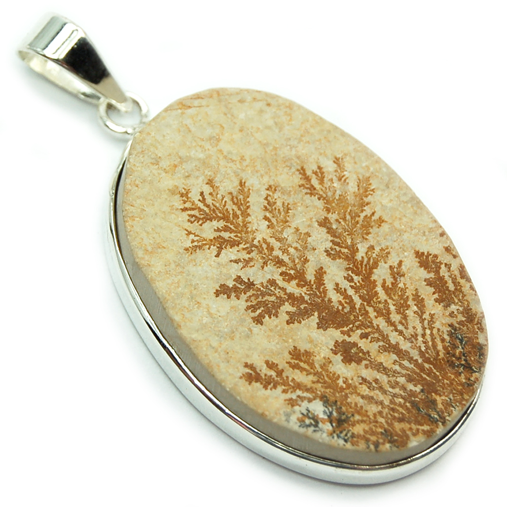 CLEARANCE Pendants - Dendrite in Marl Cabochon (India)