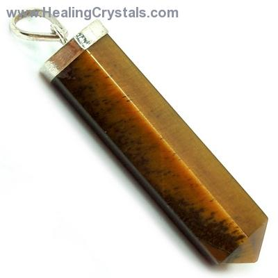 Pendants - Golden Tiger Eye ST 6-Sided Pencil Pendant (India)