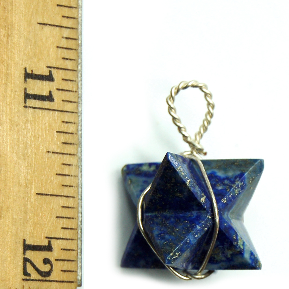 Pendants - Lapis Lazuli Merkaba Pendant (Wrapped) (India)