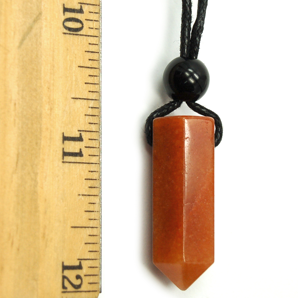 Pendants - Orange Aventurine ST Pencil Point Pendant (China)