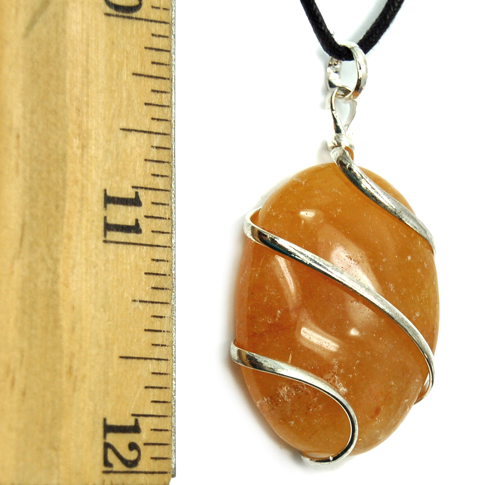 Discontinued - Orange Aventurine Wrapped Cabochon Pendant