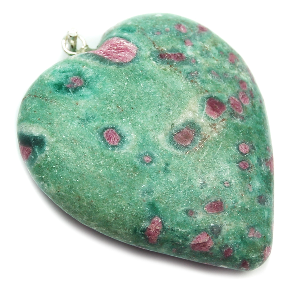 Pendants - Ruby in Fuchsite Heart Pendant (India)