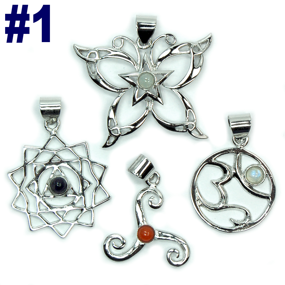 Silver-Plated Pendant Assortments (India)