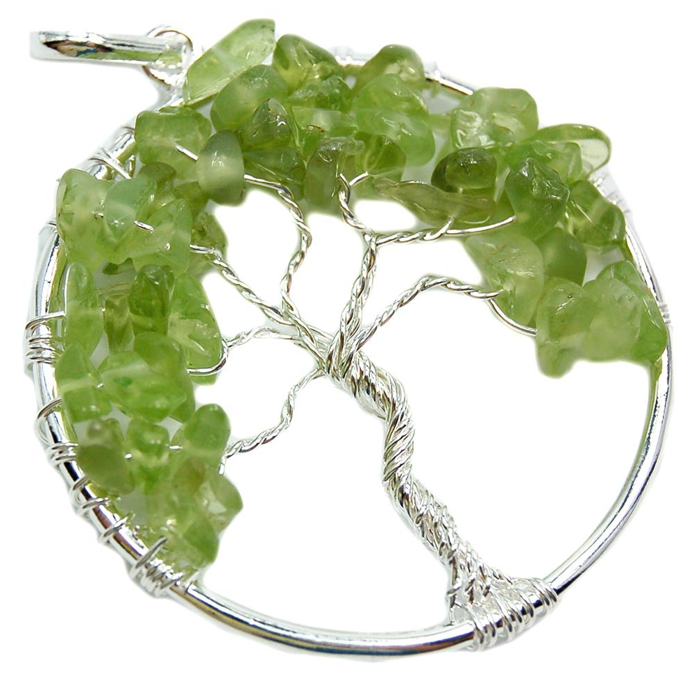 Peridot Tree of Life Pendant