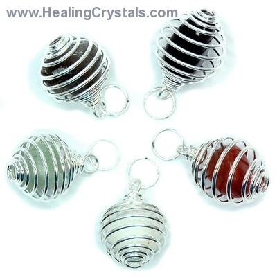 Discontinued - Tumbled Stones in Spiral Cage Assortment 1