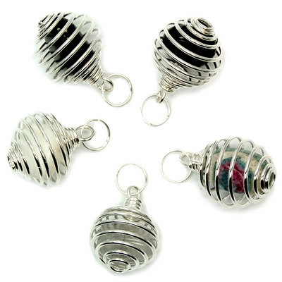 Tumbled Stones in Spiral Cage Assortment 3