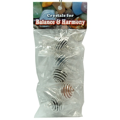 Tumbled Stones in Spiral Cage Assortment 4