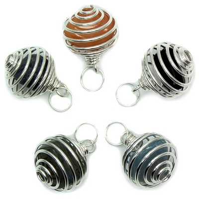 Discontinued - Tumbled Stones in Spiral Cage Assortment 4