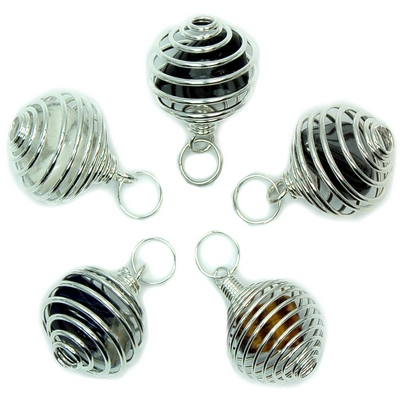 Discontinued - Tumbled Stones in Spiral Cage Assortment 5
