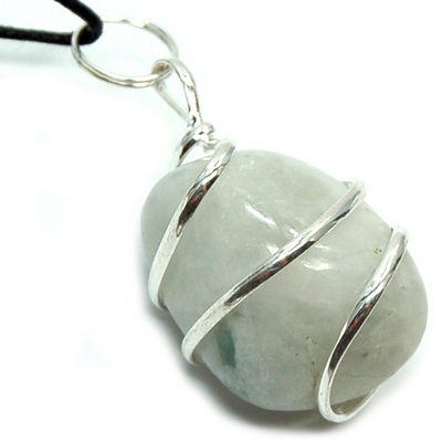 Rainbow Moonstone Wrapped Tumbled Stone