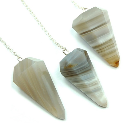 Discontinued - Banded Agate 6-Facet Pendulums (India)