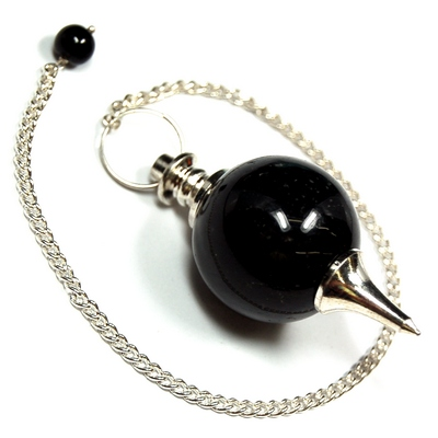 Discontinued - Black Agate Sphere Pendulums (India)