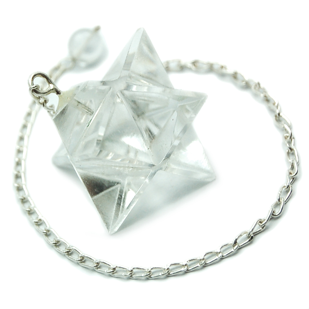 Pendulum - Clear Quartz Merkaba Pendulums (India)