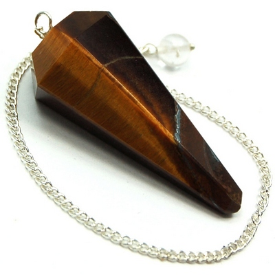 Pendulum - Golden Tiger Eye 6-Facet Pendulums (India)