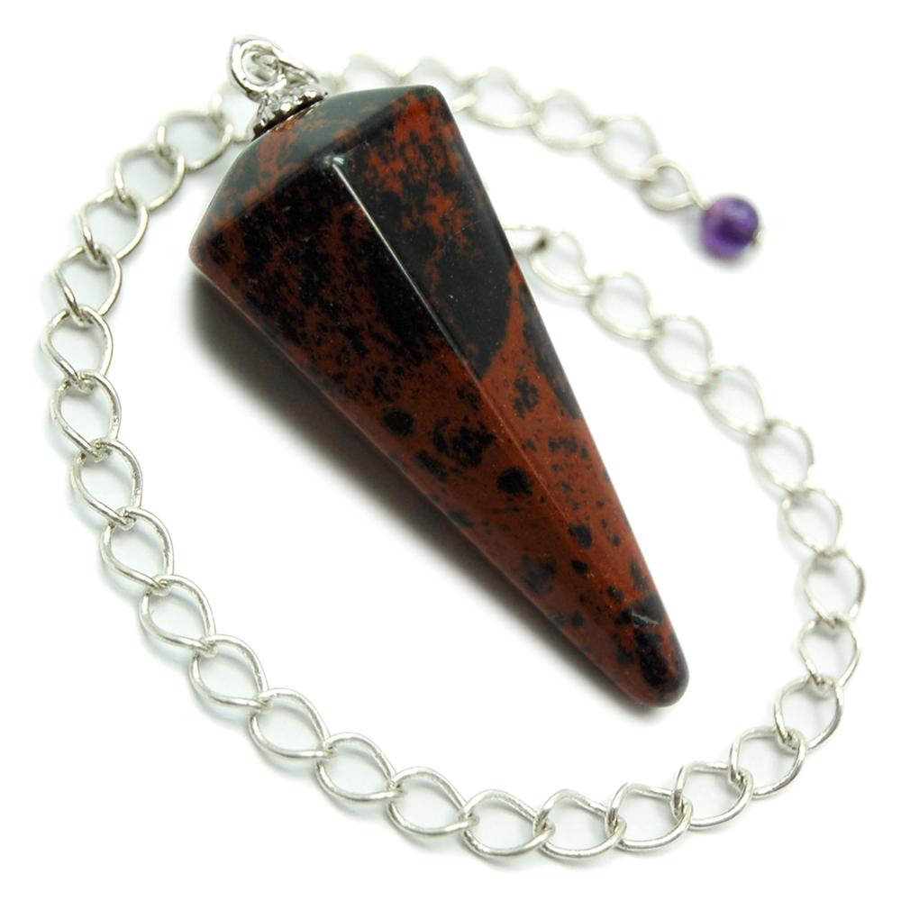 Mahogany Obsidian Pendulum