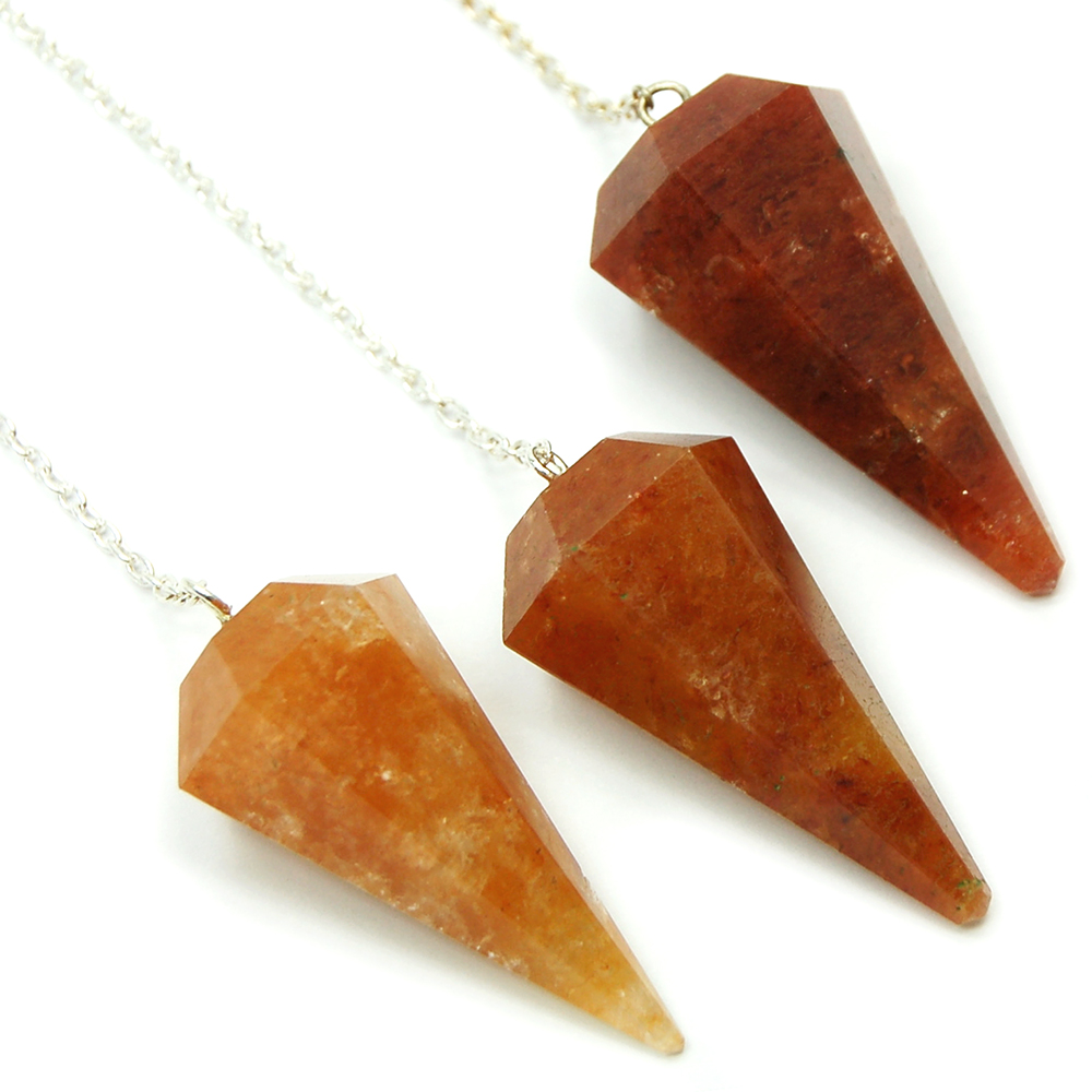 Discontinued - Orange Aventurine 6-Sided Pendulum (India)