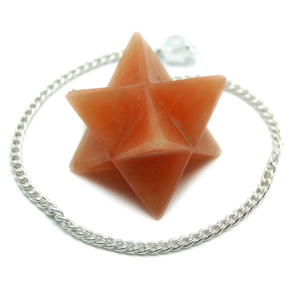 Discontinued - Orange Aventurine Merkaba Pendulum (India)