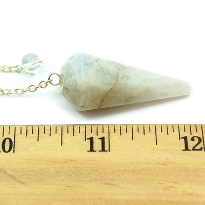 Pendulum - Rainbow Moonstone 6-Sided Pendulums (India)
