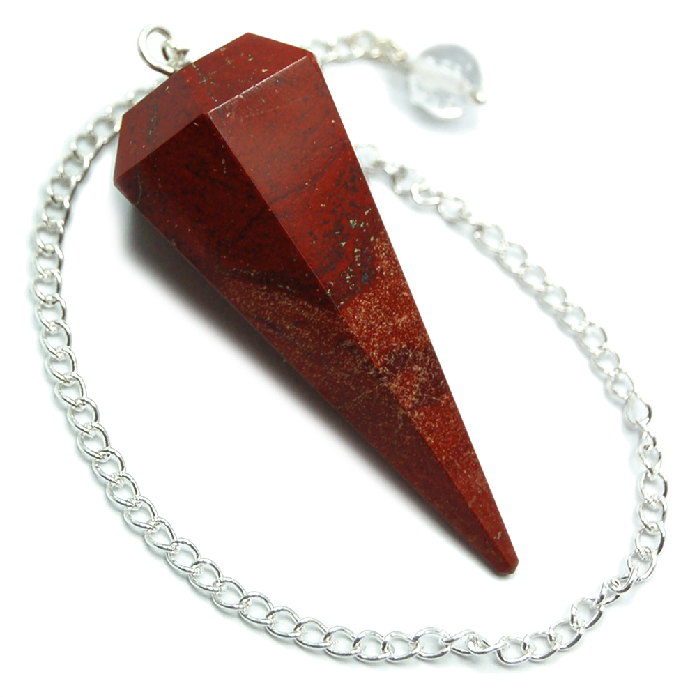 Red Jasper 6-Facet Pendulums